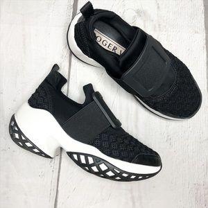 Roger Vivier Viv Run Black and White Sneakers